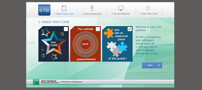 BNP Paribas - Criação de Aplicação Web de envio de eCards para uso interno da empresa
