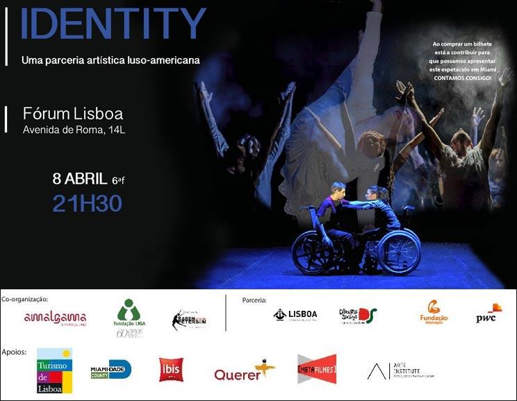 IDENTITY - Uma parceria artística luso-americana - Fórum Lisboa - 8/Abril (6ªf) às 21h30